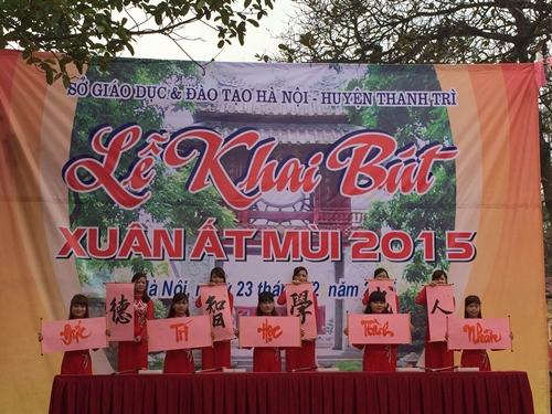 Ngành GD&ĐT Hà Nội tổ chức Lễ Khai Bút đầu Xuân Ất Mùi - 2015