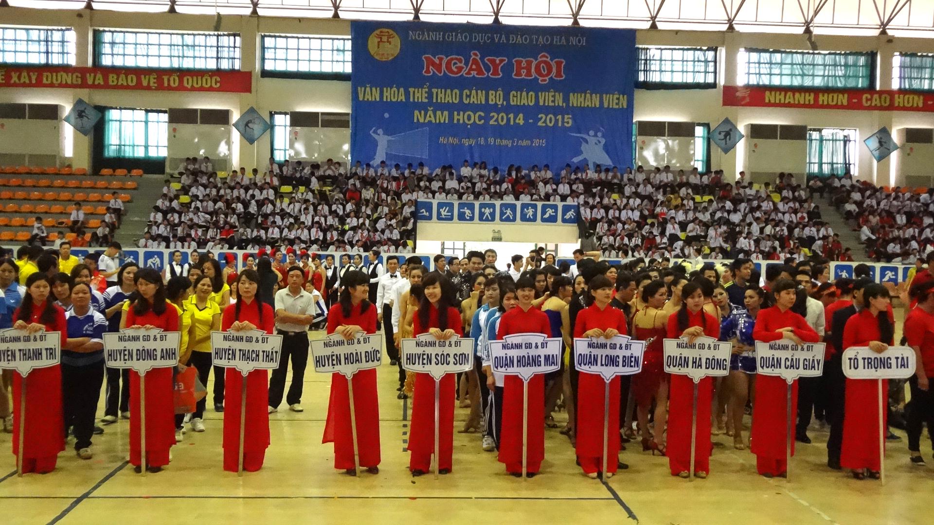 Hơn 1.200 vận động viên tham gia Ngày hội Văn hóa - Thể thao cán bộ, giáo viên, nhân viên ngành GD&ĐT Hà Nội
